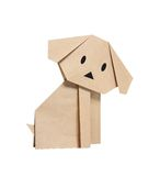 Origami dog. From recycled paper Stock Images