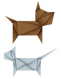 Origami dog and cat Stock Images
