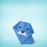 Origami dog made from Recycle Paper Stock Images
