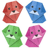 Origami dog Recycled Papercraft Royalty Free Stock Photo