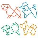 Origami Dogs Icon Set 2 Royalty Free Stock Image