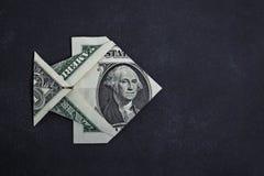 Origami dolara ryba Zdjęcia Royalty Free