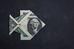 Origami dollar fish Royalty Free Stock Photos