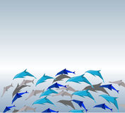 Origami dolphins. Stock Image