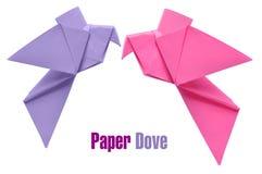 Origami doves Stock Image