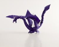 Origami dragon Stock Image