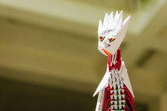 Origami dragon head Royalty Free Stock Photography