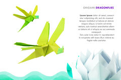 Origami dragonflies Stock Image