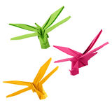 Origami dragonfly Royalty Free Stock Image