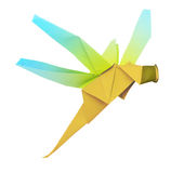 Origami dragonfly Stock Images