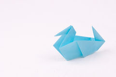 Origami duck Stock Images
