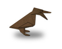 Origami duckling made of paper Royalty Free Stock Photography