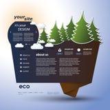 Origami Eco Website Royalty Free Stock Image