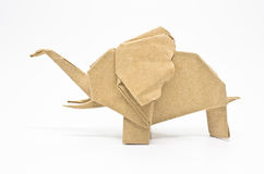 Origami elefant Arkivfoton
