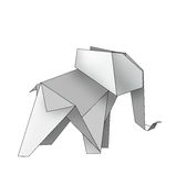 Origami elefant Royaltyfri Bild