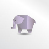 Origami elefant Photo libre de droits