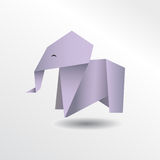 Origami elefant illustration libre de droits