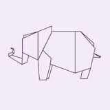 Origami elefant illustration de vecteur