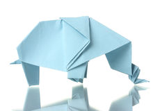 Origami elephant Stock Photography