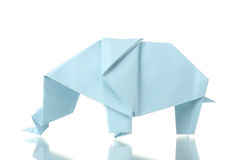 Origami elephant Stock Images