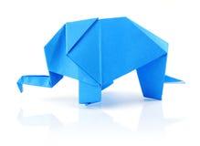 Origami elephant stock image