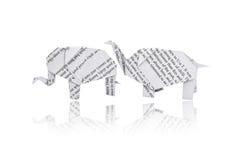 Origami elephant. Stock Photography