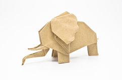 Origami elephant Royalty Free Stock Images