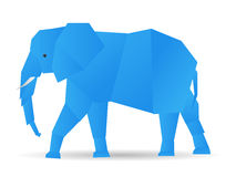 Origami elephant Stock Photo