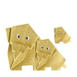Origami elephant. Recycle paper isolated on white Royalty Free Stock Photography