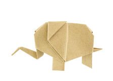 Origami elephant recycle paper Royalty Free Stock Images