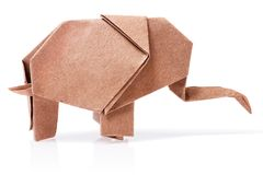 Origami elephant recycle paper Stock Photos