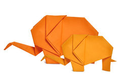 Origami elephants Royalty Free Stock Images