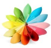 Origami esotici del fiore su un fondo bianco Fotografia Stock Libera da Diritti