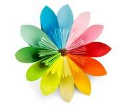Origami esotici del fiore su un fondo bianco Immagine Stock