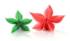 Origami esotico del fiore Fotografia Stock