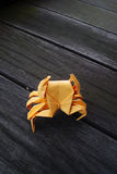 Origami extremo - caranguejo fotografia de stock royalty free