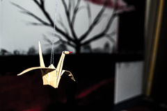 Origami fågel Royaltyfria Bilder