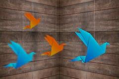 Origami fågel Fotografering för Bildbyråer
