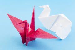 Origami fåglar Arkivfoton