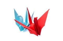 Origami fåglar Royaltyfria Foton