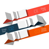 Origami för mall för information om modern design utformad grafisk Royaltyfri Bild