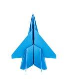 Origami F-15老鹰喷气式歼击机飞机 库存照片