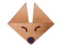 Origami face fox made of paper Stock Images