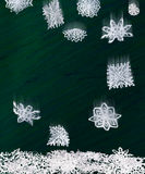 Origami falling snowflakes Royalty Free Stock Photos