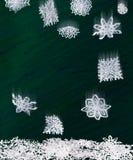 Origami falling snowflakes Royalty Free Stock Photos