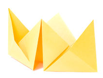 Origami figure of boat Stock Photos
