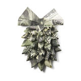 Origami fir-cone of dollar banknotes Royalty Free Stock Photo