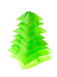 Origami fir tree Stock Images