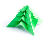 Origami fir tree Stock Photo