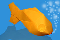 Origami fish Stock Image